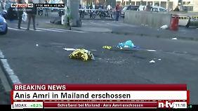 Bilder des italienischen TV-Senders TG24 zeigen den Ort, wo Amri erschossen wurde.