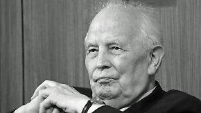 Rückblick auf ein bewegtes Leben: Ehemaliger Bundesbankpräsident Tietmeyer ist tot