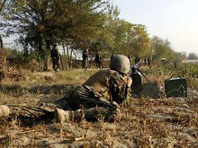 Afghanische Soldaten im Einsatz.