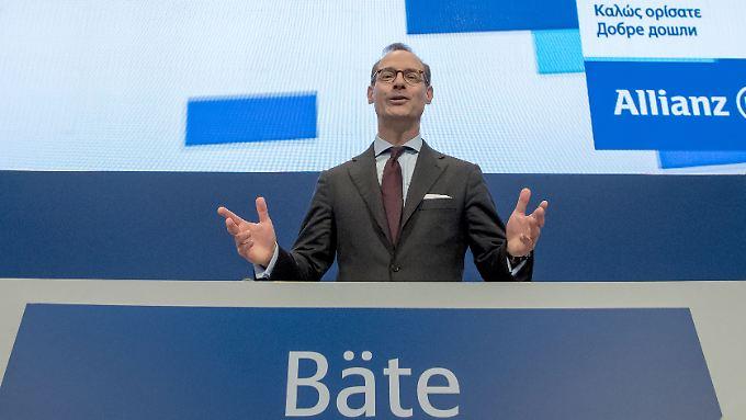 Allianz-Chef Bäte will die Anleger beglücken.