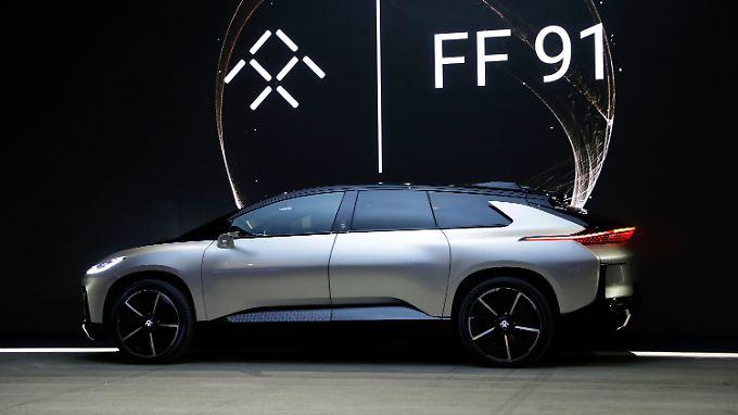 Start mit kleiner Panne auf der CES: Faraday FF 91 will Tesla das Fürchten lehren