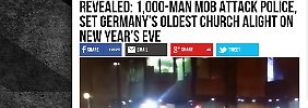 """1000-Mann-Mob zündet Kirche an"": US-Fake-News verunsichern Dortmund"