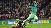 Barcelonas Suarez konnte am Donnerstagabend nicht überzeugen.