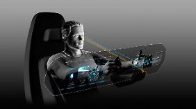 So wird der Fahrer der Zukunft in einem VW seinen Arbeitsplatz wahrnehmen.