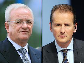 Schwere Vorwürfe gegen Martin Winterkorn (links) und Herbert Diess.