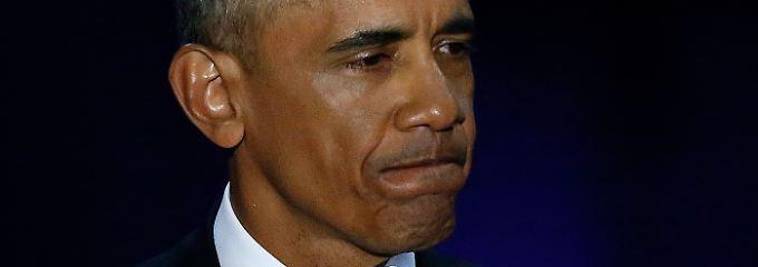 Abschiedsrede des US-Präsidenten: Obama fordert, warnt und weint