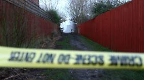 Die Polizei hat den Tatort im englischem Woodthorpe weiträumig abgesperrt.