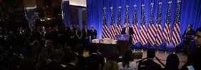 Wütende Pressekonferenz: Trump redet über Trump