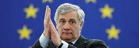 Konservativer gewinnt Stichwahl: Italiener Tajani wird EU-Parlamentspräsident