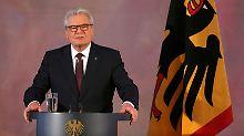 In seiner Abschiedsrede warnte Bundespräsident Joachim Gauck vor Gefahren für die Demokratie.