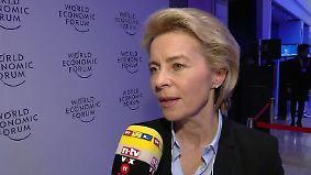 """Von der Leyen in Davos: """"Wir möchten von den USA Klarheit über die Agenda"""""""