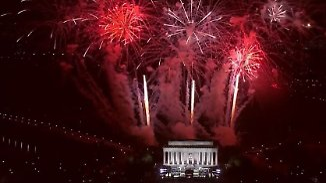 Mit Feuerwerk und Marschmusik: Trump lässt sich am Abend vor Vereidigung pompös feiern