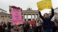 Demonstrationen gegen Trump: Hunderttausende Frauen marschieren