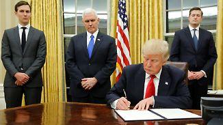 Zeitplan im Weißen Haus: So sieht Trumps erster Arbeitstag als US-Präsident aus