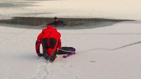 Was im Notfall zu tun ist: DLRG warnt vor Betreten von zugefrorenen Seen