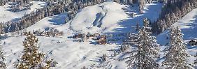 Blick auf Alta Badia in den Dolomiten.