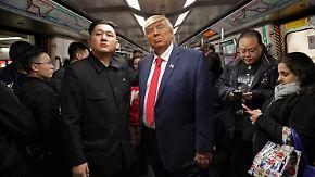 Kaum zu glauben, aber wahr: Trump und Kim zeigen sich in Hongkong Seite an Seite