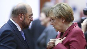 Steigende Umfragewerte der SPD: Kann Schulz Merkel im Wahlkampf gefährlich werden?