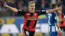 Nils Peterson schoss das zwischenzeitliche 2:0 für den SC Freiburg.