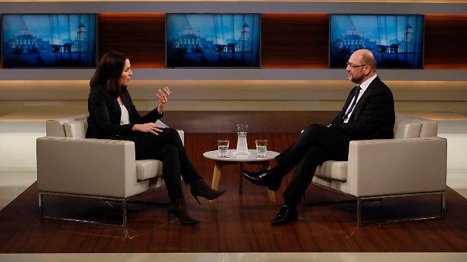 Stand Anne Will Rede und Antwort: Martin Schulz
