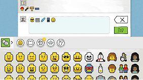 Sogar die Smileys im Chat bei Lego Life sind liebevoll als Gesichter von Lego-Figuren gestaltet.