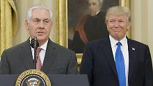 Tillerson und Trump sehen im Iran trotz allem einen Gegenspieler.