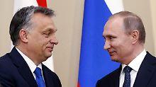 """Putin zu Besuch in Budapest: Orban rügt """"anti-russische"""" EU-Politik"""