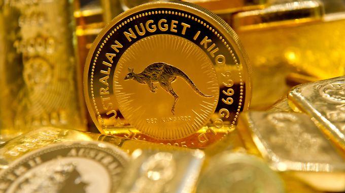 """Gold gilt bei Investoren als """"sicherer Hafen""""."""