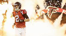 Jan 22, 2017; Atlanta, GA, USA; Atlanta Falcons quarterback Matt Ryan (2) runs on the field for the game between the Atlanta Falcons and the Green Bay Packers in the 2017 NFC Championship Game at the Georgia Dome. Mandatory Credit: Jason Getz-USA TODAY Sports