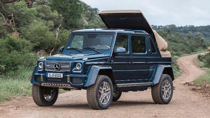 Wenn ein Mercedes das Maybach-Label trägt, dann muss es schon etwas besonderes sein. Wie der Mercedes-Maybach G 650 Landaulet.