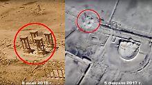 Neue Zerstörungswelle befürchtet: IS verwüstet weitere Stätten in Palmyra