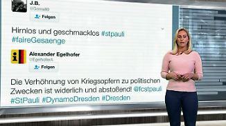 n-tv Netzreporterin: So reagiert das Internet auf das bösartige Plakat der St.-Pauli-Fans
