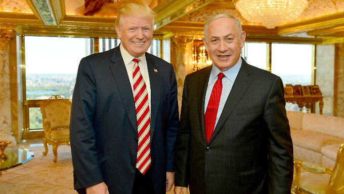 Donald Trump und Benjamin Netanjahu kennen sich nach eigenen Angaben schon seit Jahren. Im September hat Netanjahu Trump während des Wahlkampfs in New York besucht.