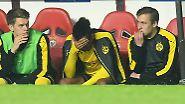 Dortmunder Pechvogel des Spiels: Top-Torjäger Pierre-Emerick Aubameyang, der sinnbildlich für die katastrophale Chancenverwertung der Dortmunder stand.