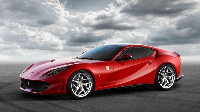6,5-Liter-V12 im Ferrari 812 Superfast mobilisiert 800 PS.