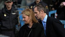 """Die """"schwarzen Schafe"""" der spanischen Monarchie: Infantin Cristina und Iñaki Urdangarin."""