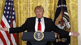 Pressekonferenz im Weißen Haus: Donald Trump fühlt sich in seinem Stolz verletzt