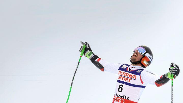Marcel Hirscher fährt immer richtig gut, wenn während des Rennens Kameras abstürzen.