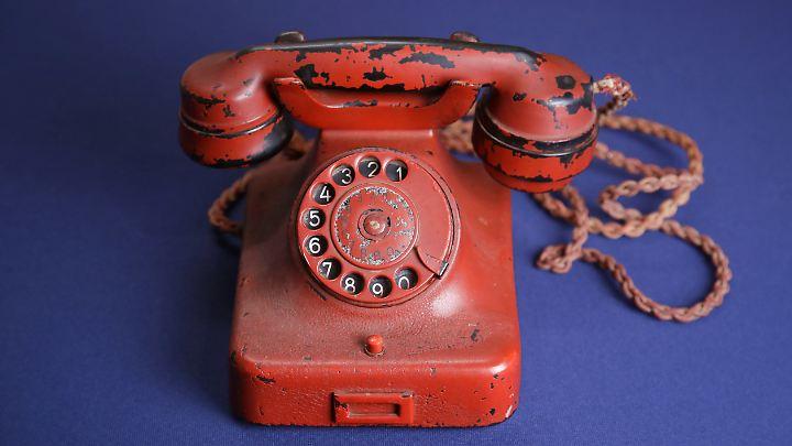 So sieht es aus: Hitlers Reisetelefon.