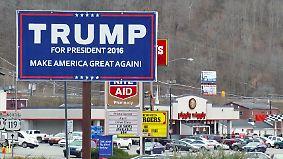 """""""Wird uns nicht enttäuschen"""": Wähler-Hochburg West Virginia glaubt an Trump"""