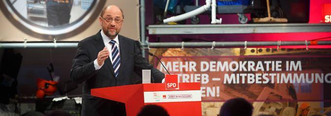 Möchte den Arbeitsmarkt umkrempeln: SPD-Kanzlerkandidat Martin Schulz