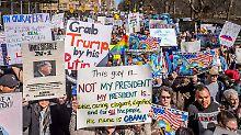 Präsidententag umgewidmet: Zehntausende demonstrieren gegen Trump