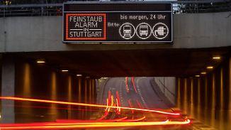 Zu oft Feinstaubalarm: Stuttgart will Diesel aus der Innenstadt verbannen