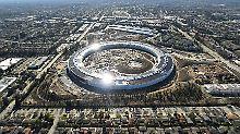 Apples neue Zentrale sieht aus wie ein Donut, der in einem Vorort gelandet ist.