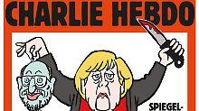 """Merkel mit geköpftem Schulz: """"Charlie Hebdo"""" kassiert erste Beschwerde"""