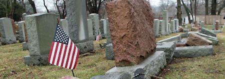 Erst vor wenigen Tagen schändeten Unbekannte einen jüdischen Friedhof in Philadelphia.