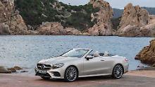 Fast ohne Sicken kommt das neue Mercedes E-Klasse Cabrio aus.
