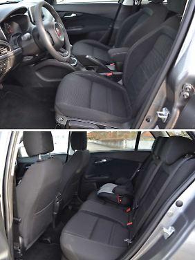 Der Innenraum ist einfach, bietet aber gute Sitze und ausreichend Platz.