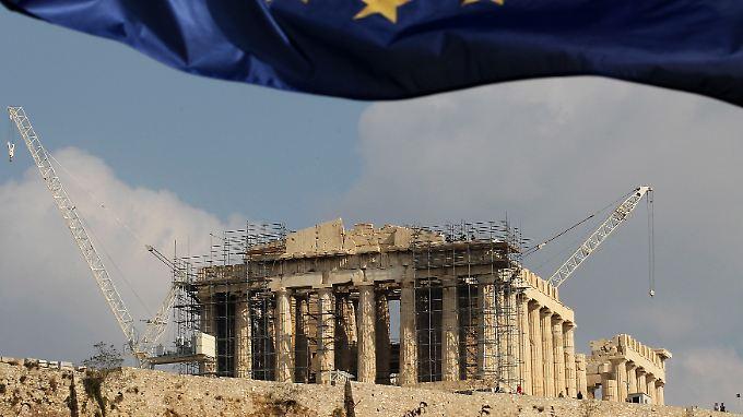 Trotz harter Umbaumaßnahmen - die meisten Griechen sind gegenüber der Eurozone positiv eingestellt.