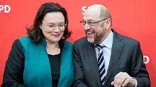 """Mehr Spielraum mit """"ALG Q"""": Nahles verteidigt Pläne zu Agenda-Reform"""